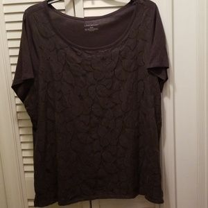 Lane Bryant Lace covered top